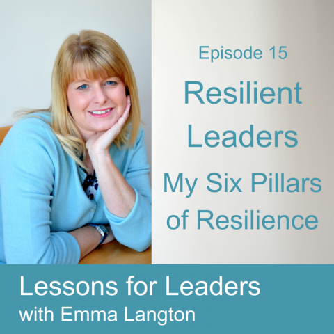 Lessons for Leaders 15: Resilient Leadership: My Six Pillars of Resilience