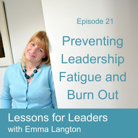 Lessons for Leaders 21: Preventing Leadership Fatigue and Burn Out