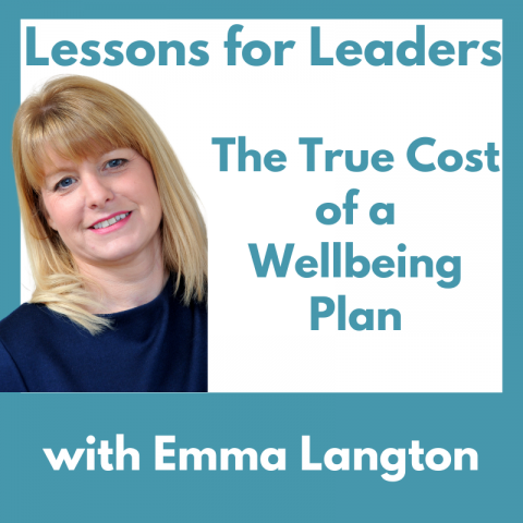 Lessons for Leaders 39: The True Cost of a Wellbeing Plan