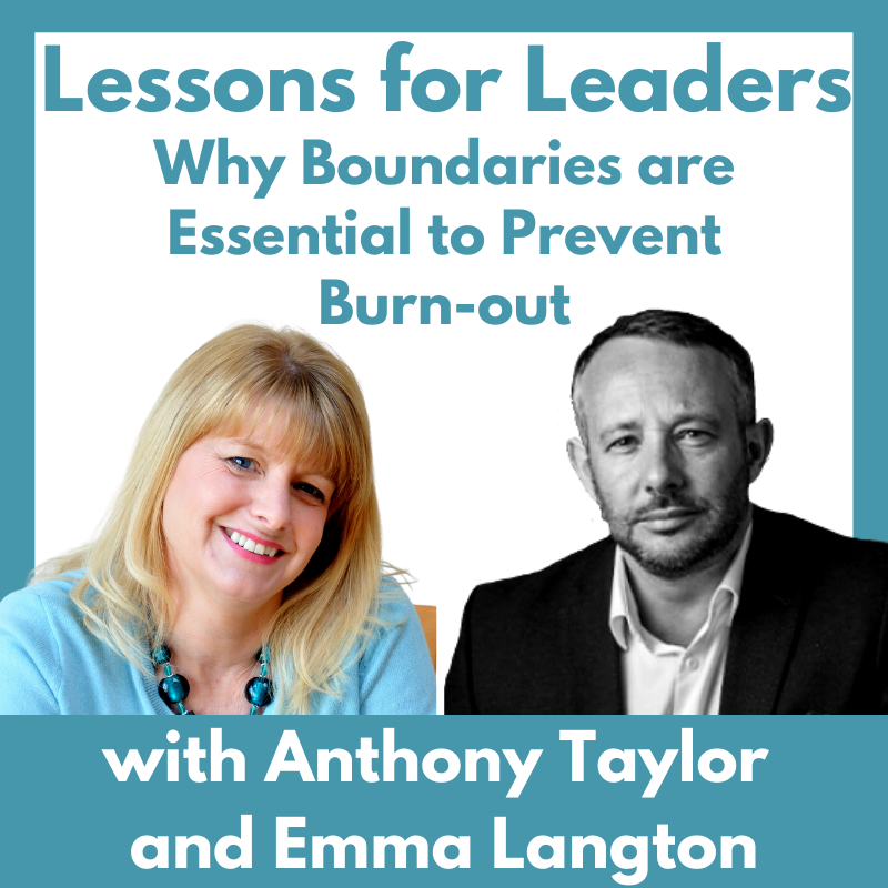 Podcast cover: why boundaries are essential to prevent burnout